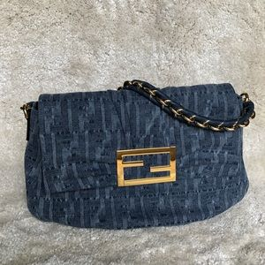 Brand new with cards - Fendi Denim baguette